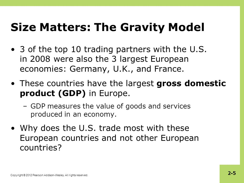 Size Matters: The Gravity Model