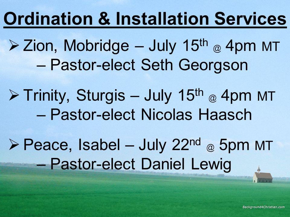 Ordination & Installation Services