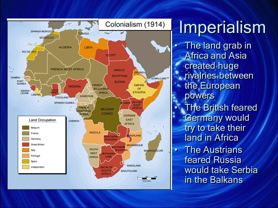 Imperialism The land grab in Africa and Asia created huge rivalries between the European powers.