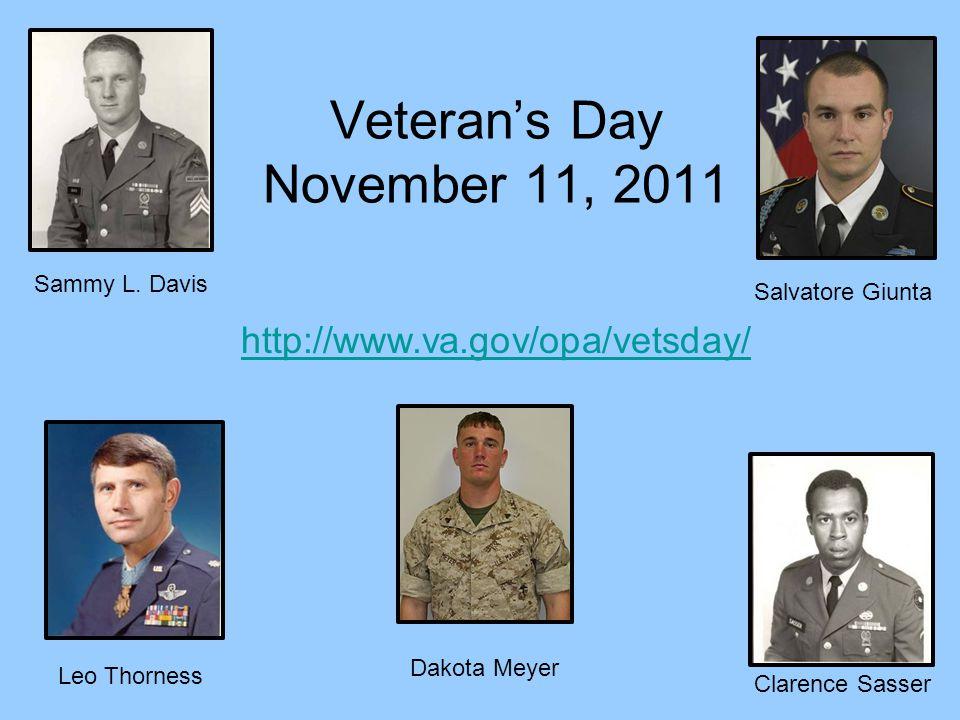 Veteran's Day November 11, 2011