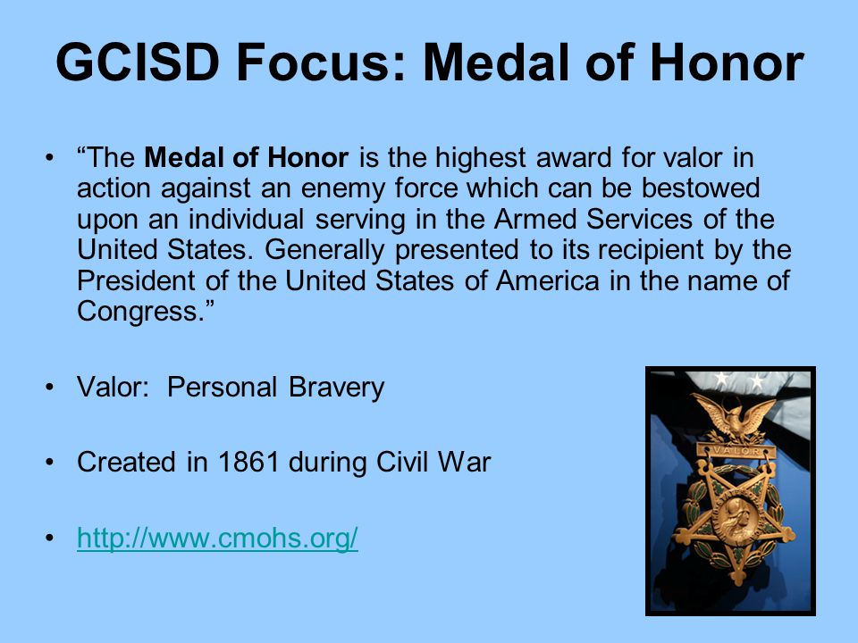GCISD Focus: Medal of Honor