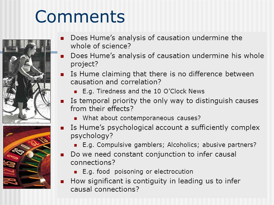 Comments Does Hume's analysis of causation undermine the whole of science Does Hume's analysis of causation undermine his whole project
