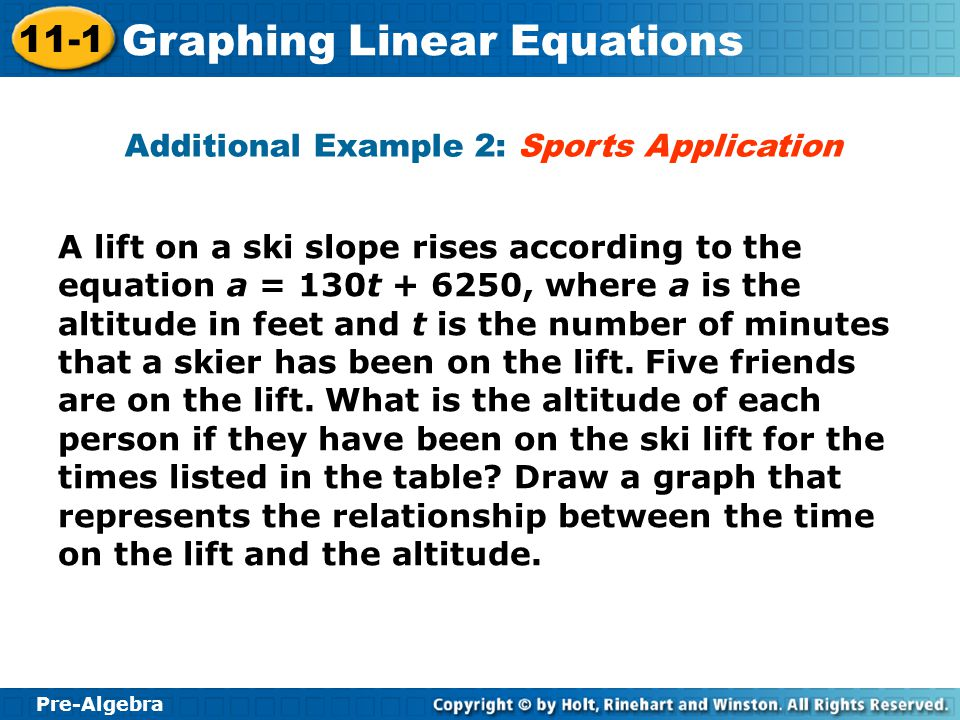 Additional Example 2: Sports Application