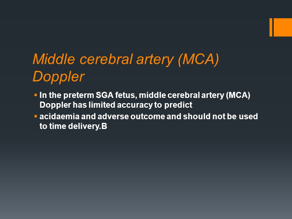 Middle cerebral artery (MCA) Doppler