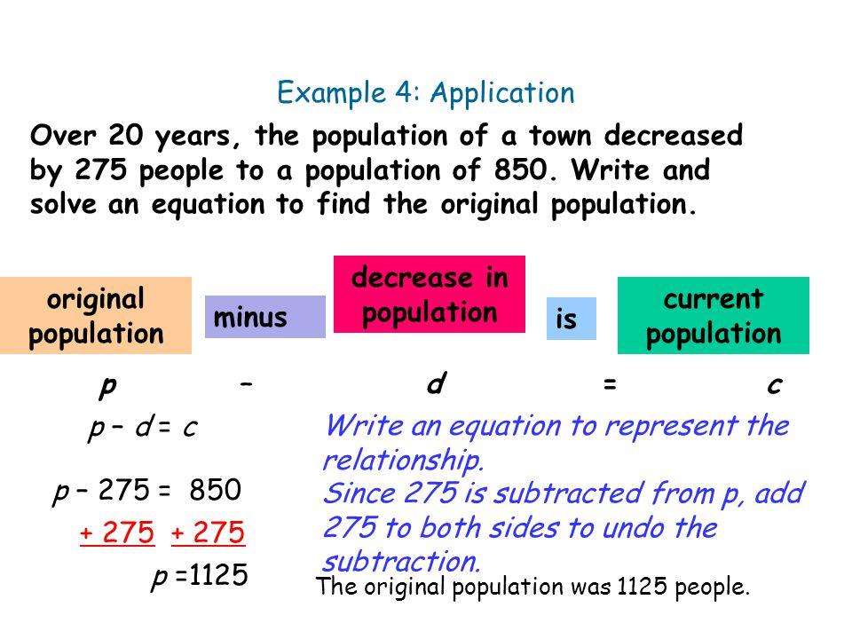 decrease in population