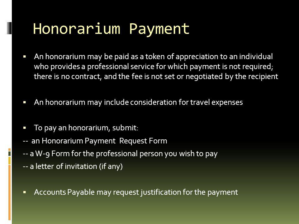 Honorarium Payment