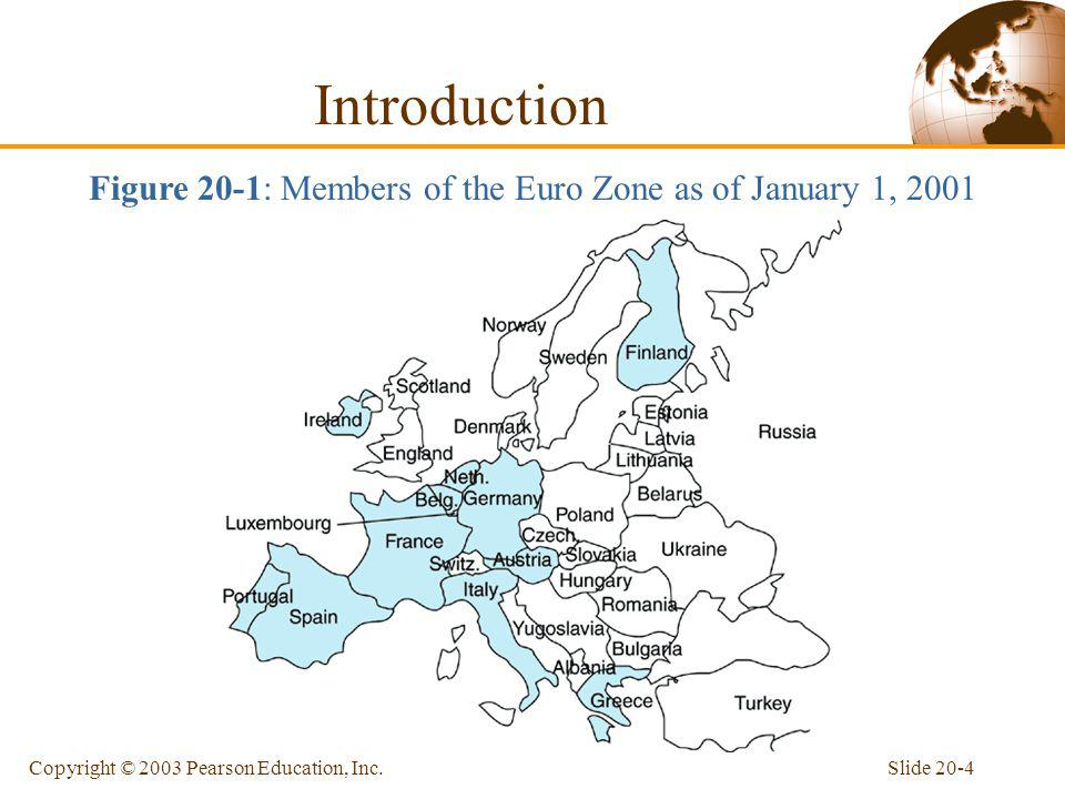 Figure 20-1: Members of the Euro Zone as of January 1, 2001