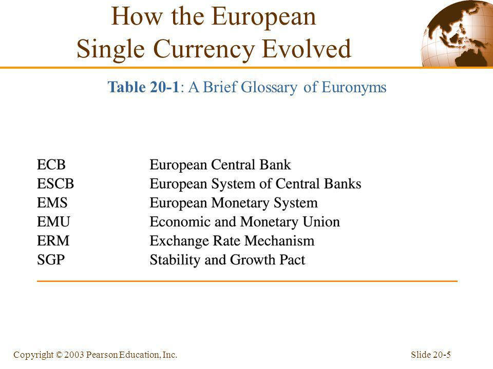 How the European Single Currency Evolved