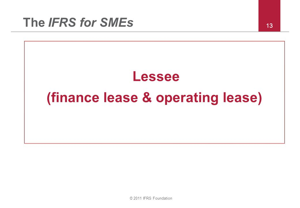 (finance lease & operating lease)