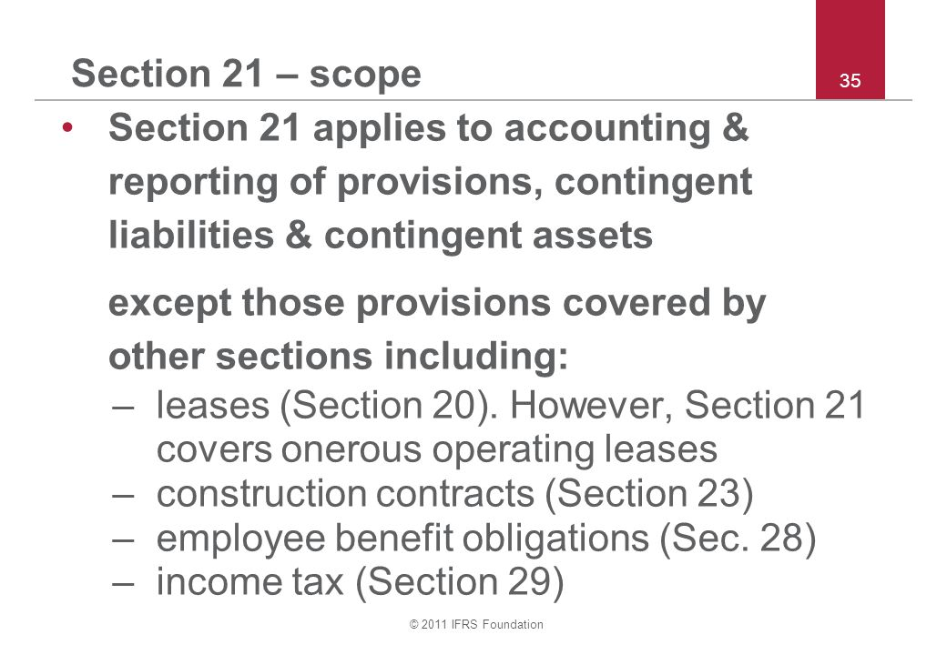 except those provisions covered by other sections including: