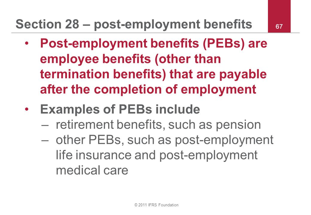 Section 28 – post-employment benefits