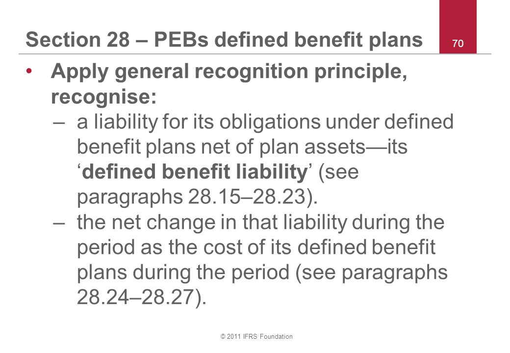Section 28 – PEBs defined benefit plans