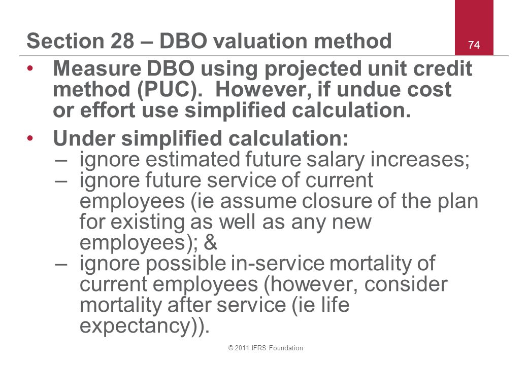 Section 28 – DBO valuation method