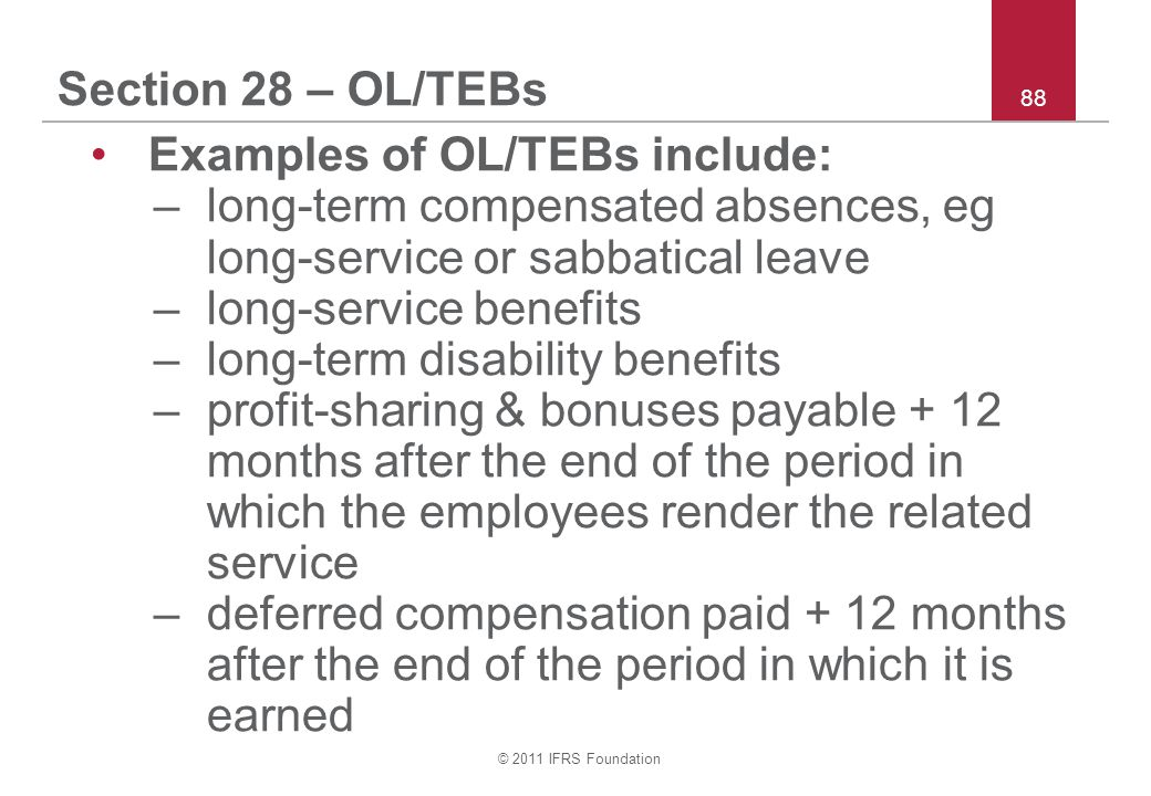 Examples of OL/TEBs include: