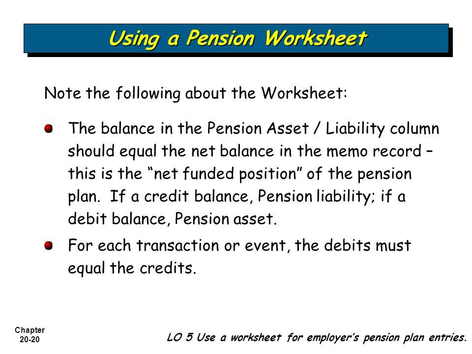 Using a Pension Worksheet