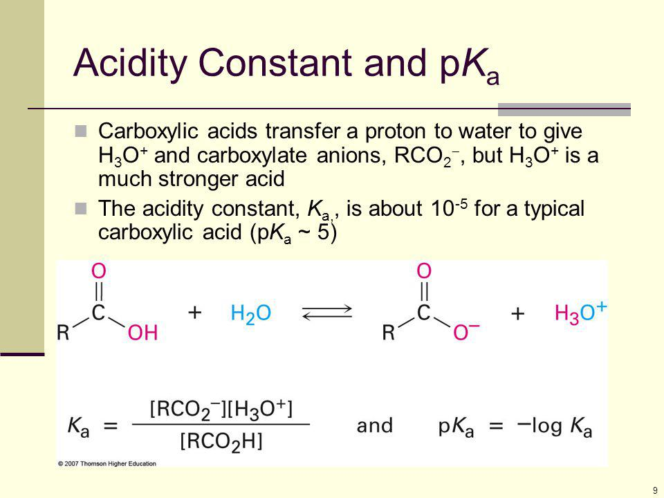 Acidity Constant and pKa