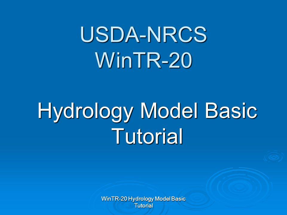 Hydrology Model Basic Tutorial