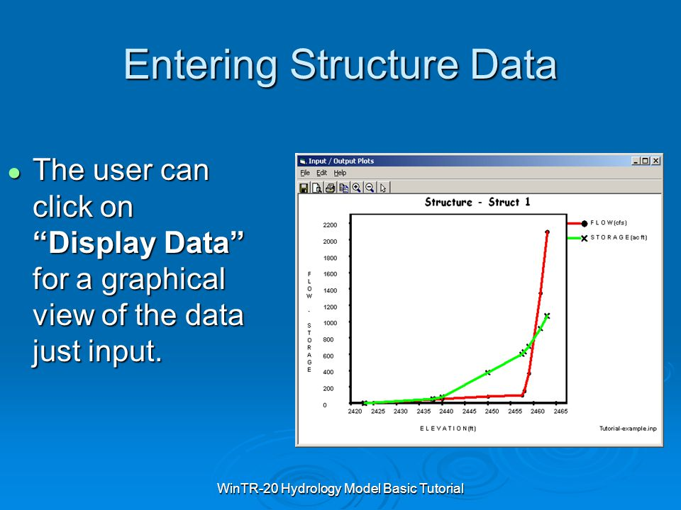 Entering Structure Data