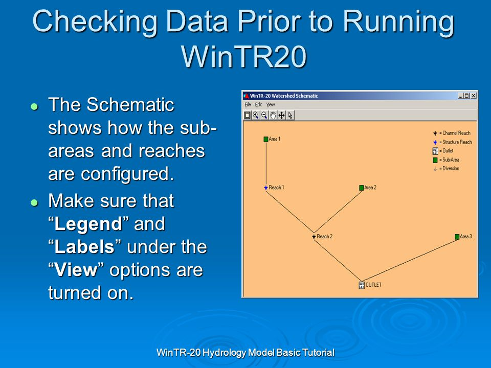 Checking Data Prior to Running WinTR20