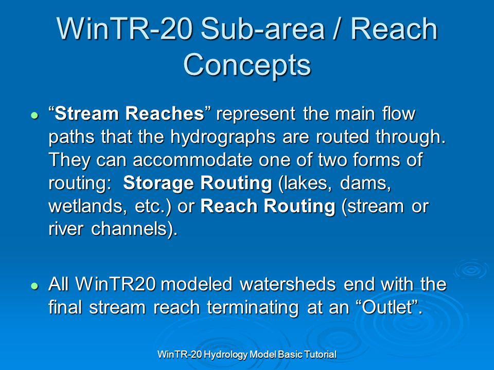 WinTR-20 Sub-area / Reach Concepts