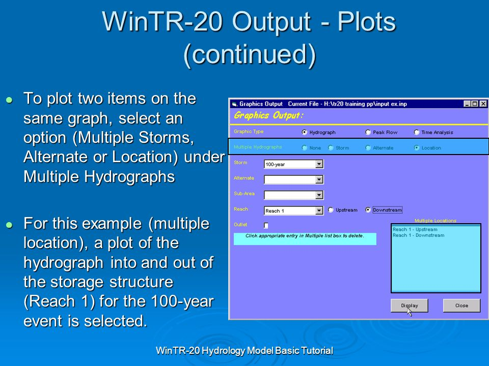 WinTR-20 Output - Plots (continued)