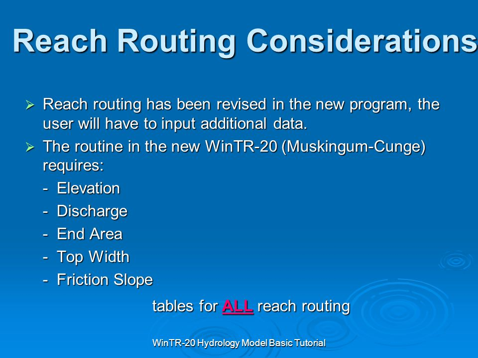 Reach Routing Considerations