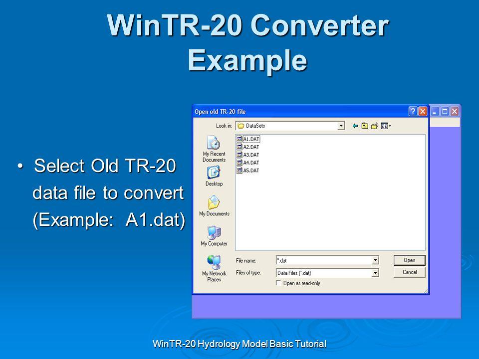 WinTR-20 Converter Example