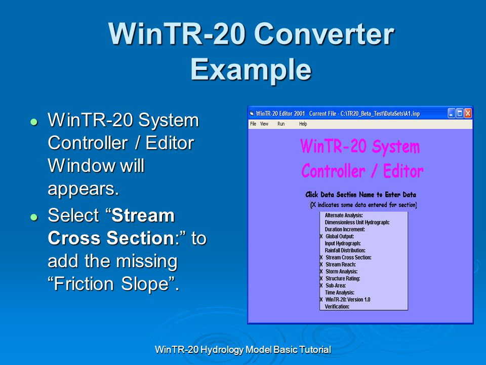 WinTR-20 Converter Example