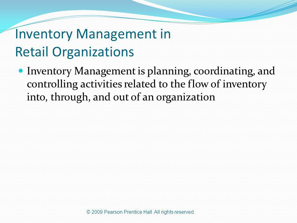 Inventory Management in Retail Organizations