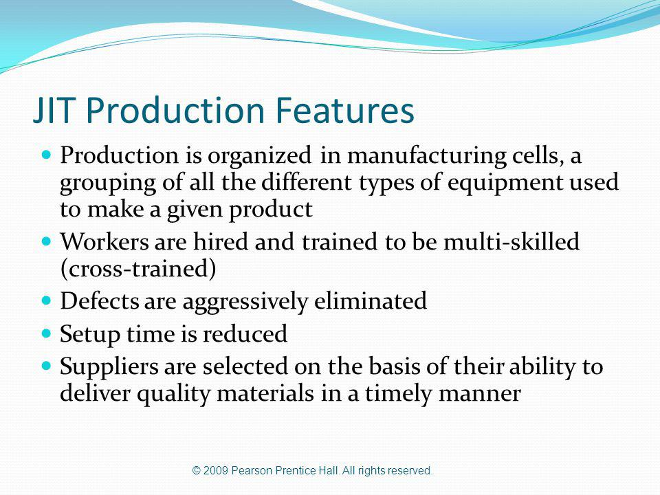 JIT Production Features