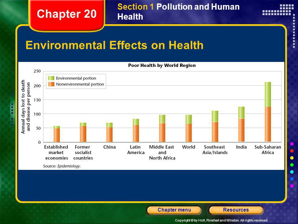 Environmental Effects on Health