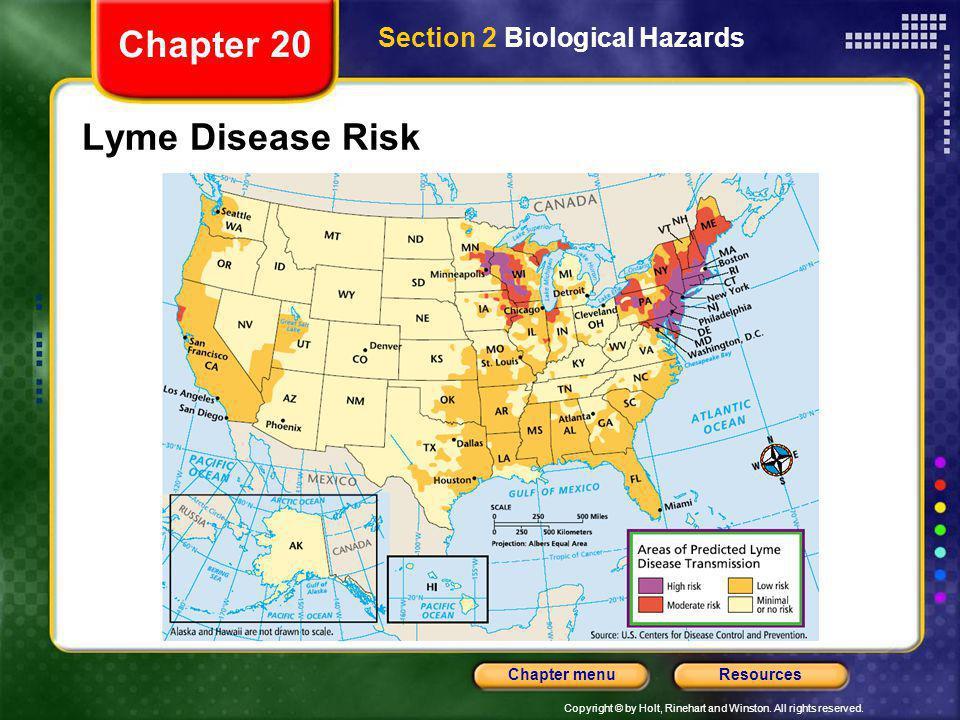 Chapter 20 Section 2 Biological Hazards Lyme Disease Risk