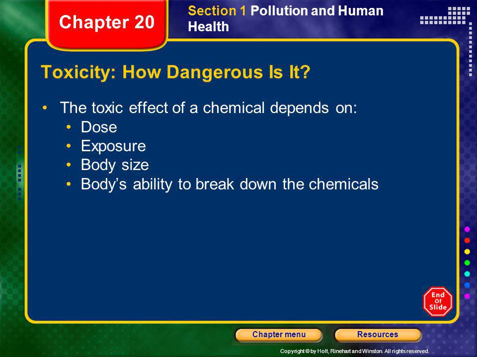 Toxicity: How Dangerous Is It