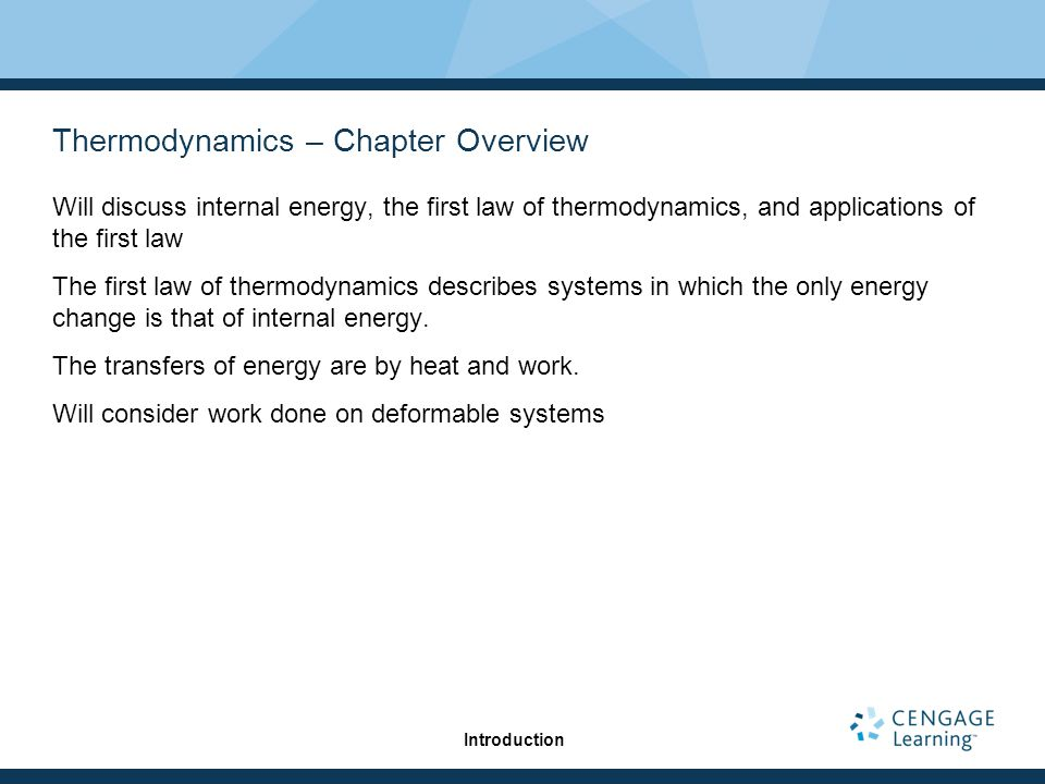 Thermodynamics – Chapter Overview