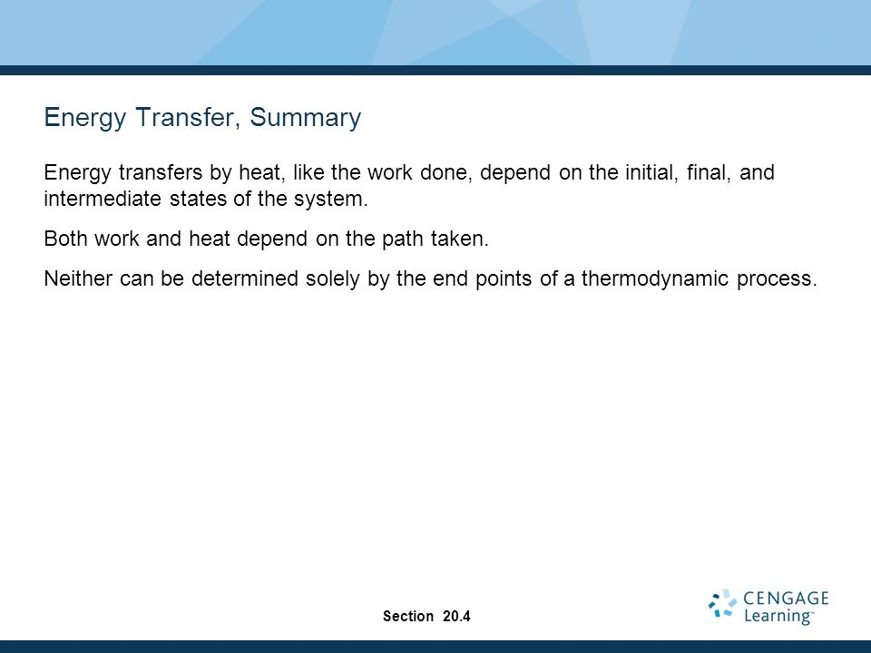 Energy Transfer, Summary