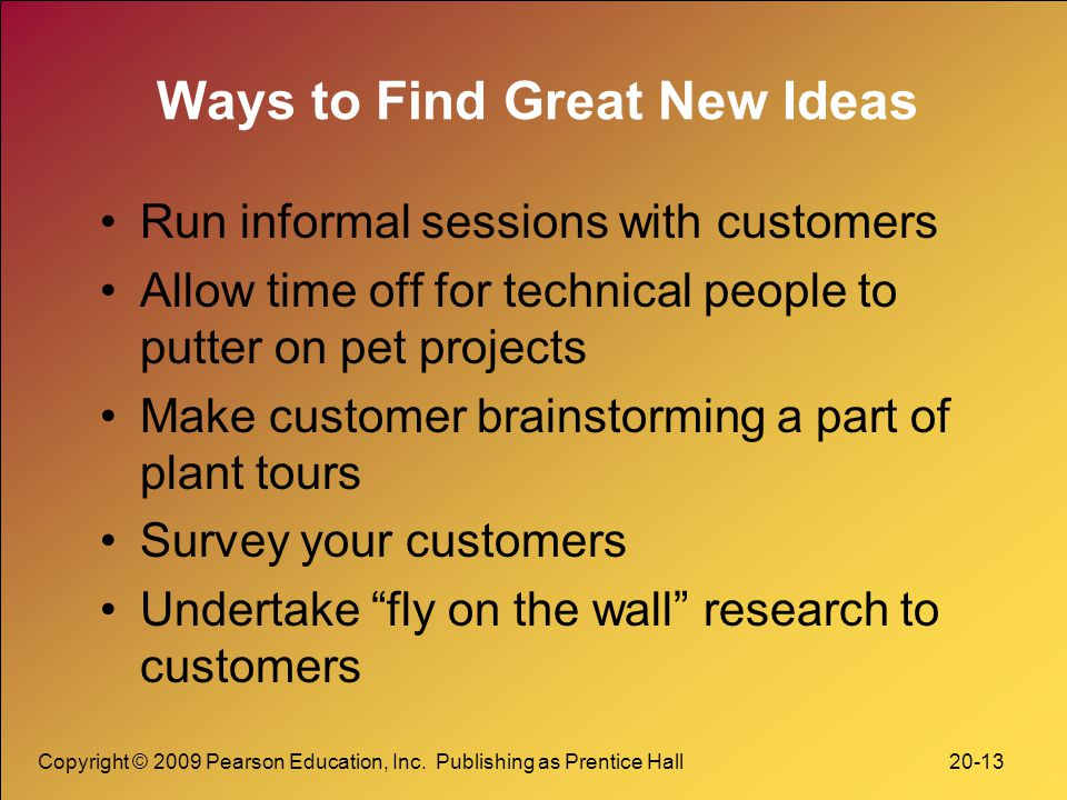 Ways to Find Great New Ideas