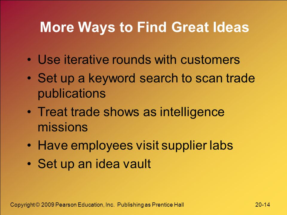 More Ways to Find Great Ideas