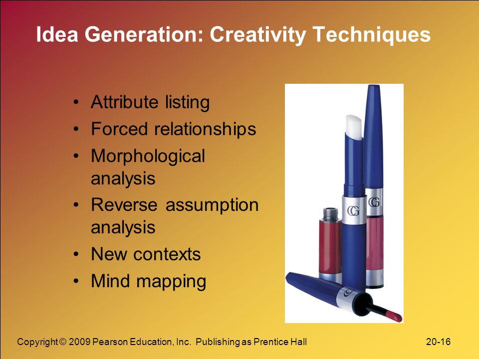Idea Generation: Creativity Techniques