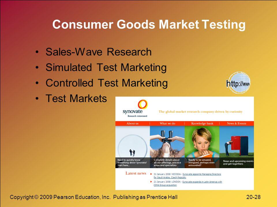 Consumer Goods Market Testing