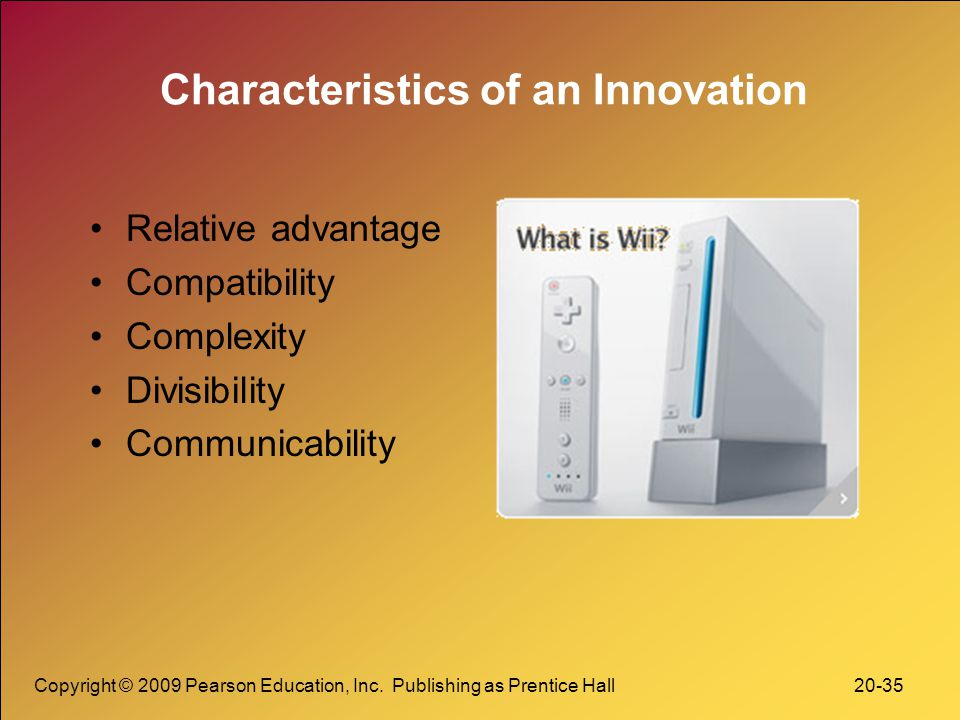 Characteristics of an Innovation