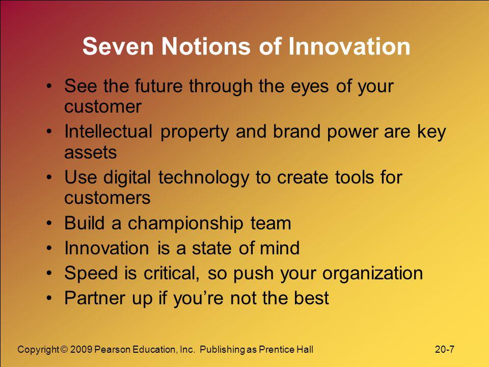Seven Notions of Innovation