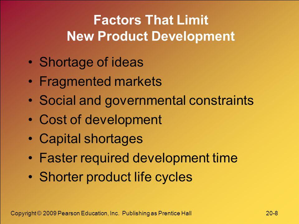 Factors That Limit New Product Development