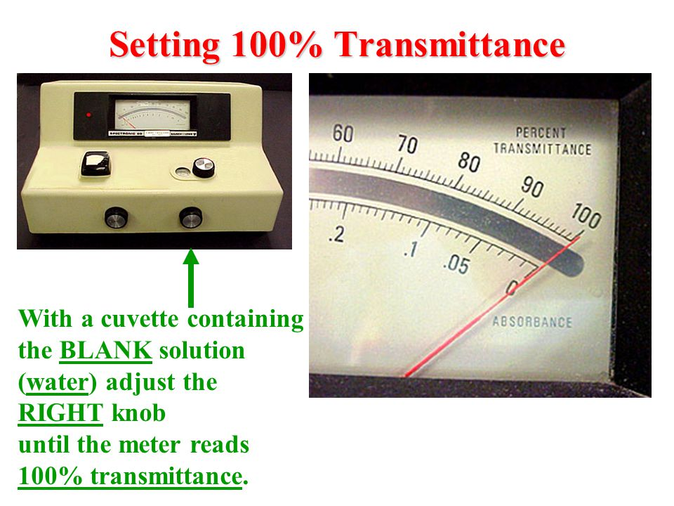 Setting 100% Transmittance