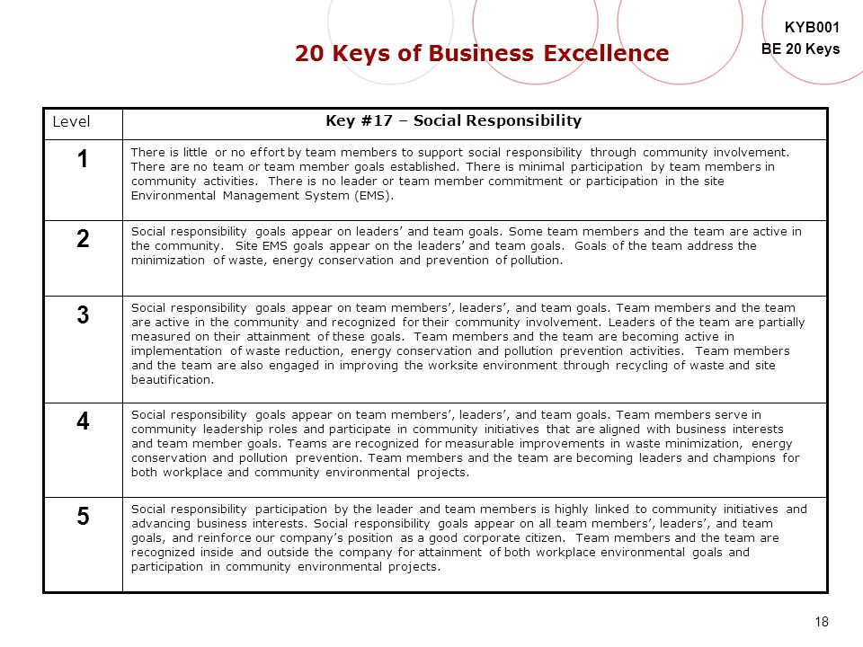 20 Keys of Business Excellence Key #17 – Social Responsibility