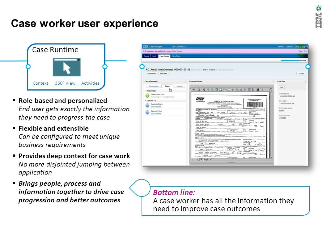 Case worker user experience