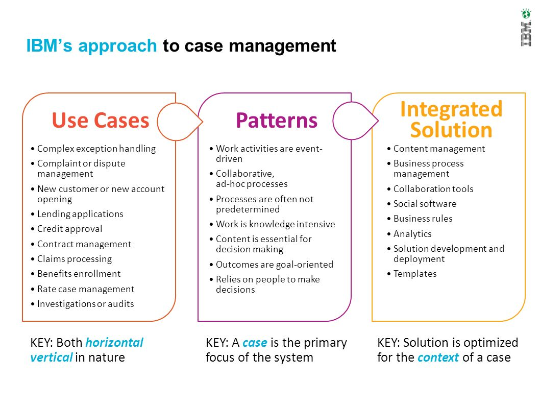 IBM's approach to case management