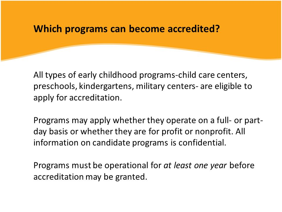 Which programs can become accredited