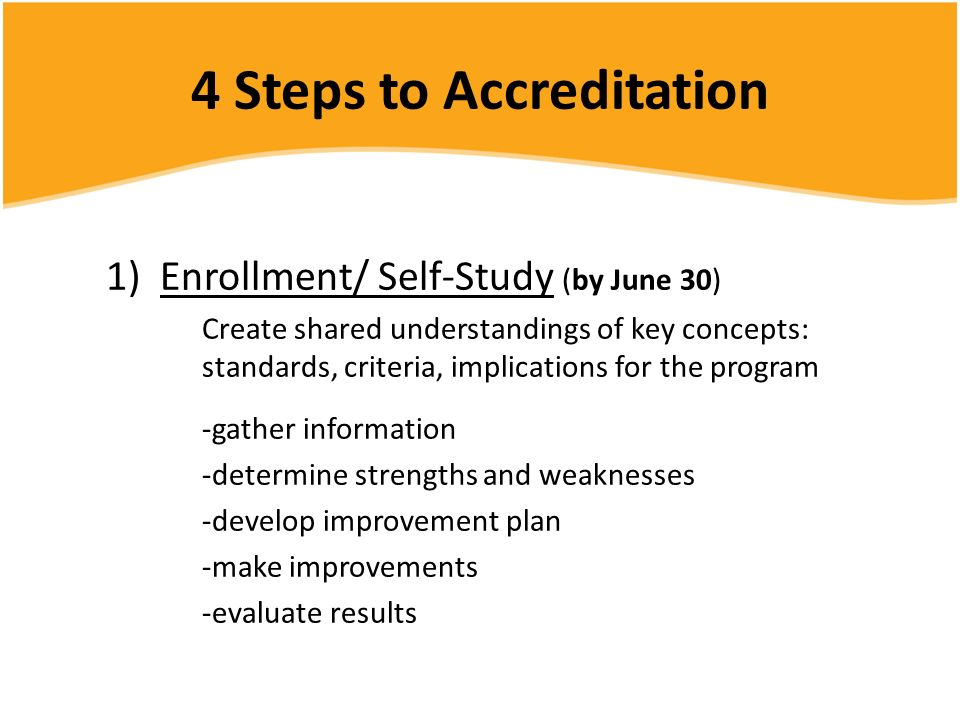 4 Steps to Accreditation