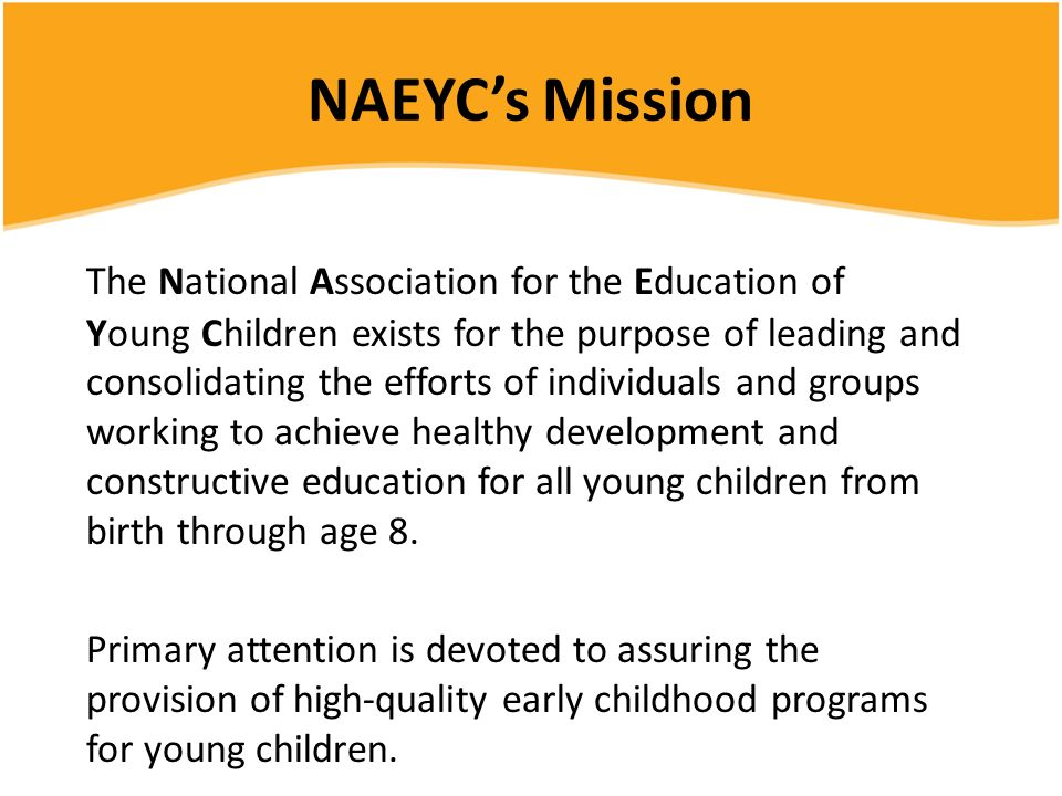 NAEYC's Mission