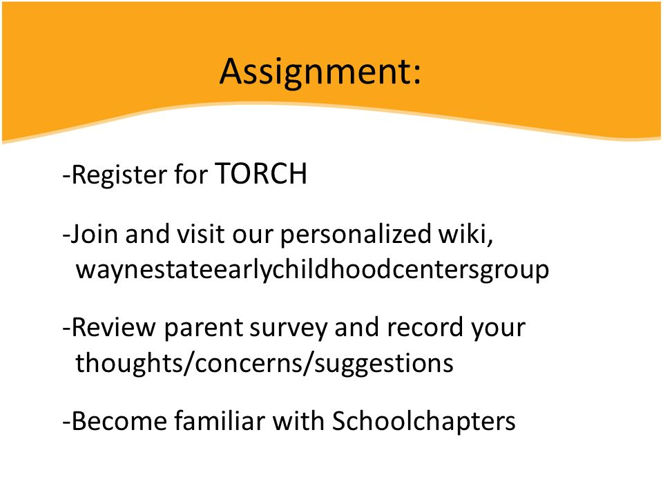 Assignment: Register for TORCH